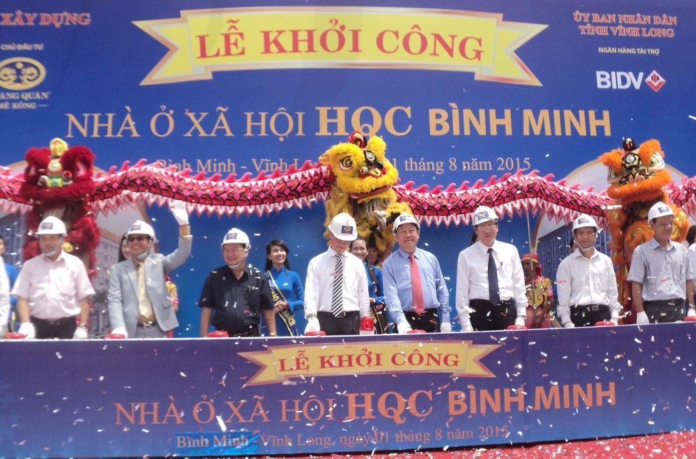 20150803132825 8d97 Hoàng Quân Mê Kông chính thức khởi công dự án nhà ở xã hội HQC Bình Minh
