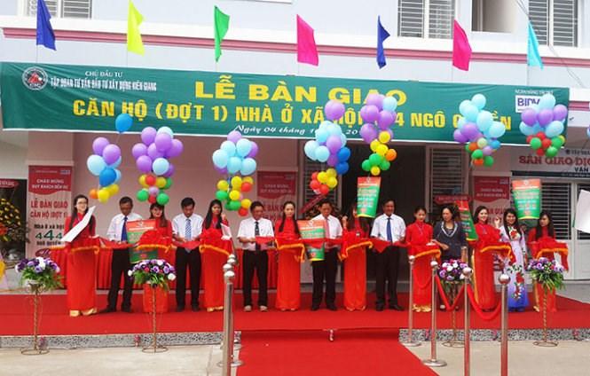 20151005083054 0379 Khánh thành nhà ở xã hội dạng chung cư đầu tiên tại tỉnh Kiên Giang